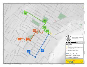 Plan des trajets Trottibus STGO 2015-2016